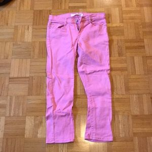 Joe fresh slim cropped jeans pink size 2
